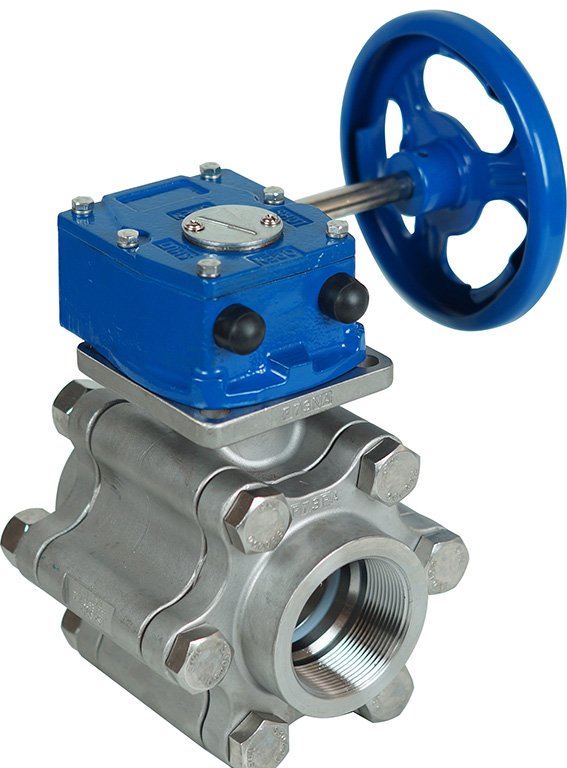305D ball valve with gear operator