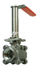 ball valve with extended stem for isolation