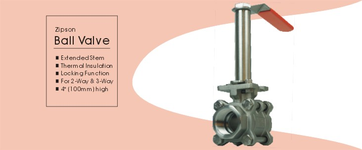 ball valve with thermal insulation extended stem